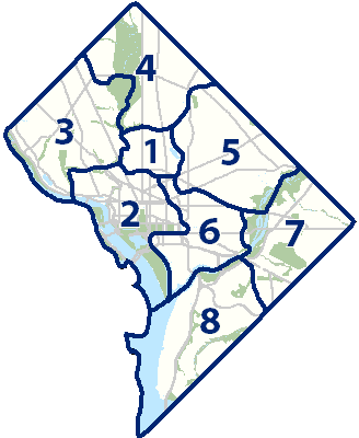 DC Ward Map